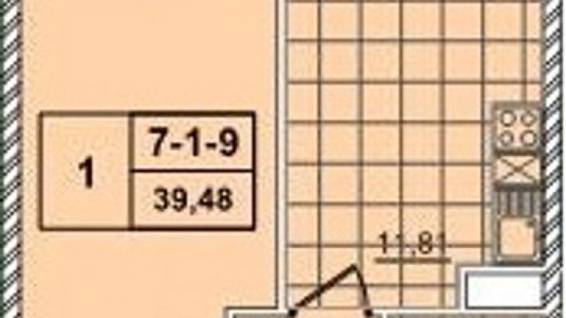 $63958 / Бойчука 17, Киев, Киев / Продажа / Квартира / 39.48 кв.м. / 1 комнат